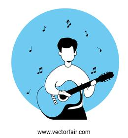 man with guitar avatar characters