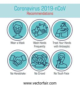 set of recommendations for covid 19