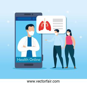 health online technology with people sick