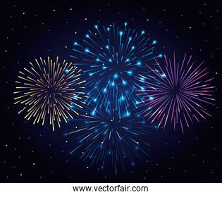 fireworks splash explosion background icon