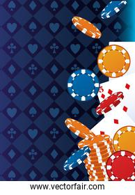 poker cards and chips betting game gambling casino