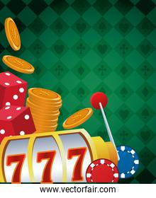 slot machine dices and chips betting game gambling casino