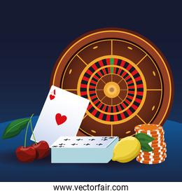 roulette cards chips betting game gambling casino