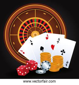 roulette dices money chips cards betting game gambling casino