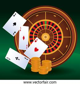aces money coins roulette betting game gambling casino