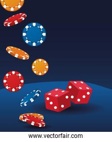 dices and chips betting game gambling casino