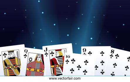 cards suits club betting game gambling casino