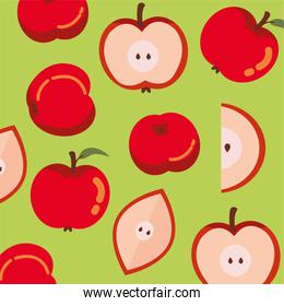pattern of apples fruits autumn