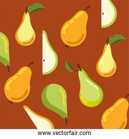 pattern pears fruits of autumn
