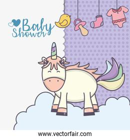 baby shower cute unicorn hang bodysuit pacifier duck sock
