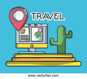 online map location cactus tourist vacation travel