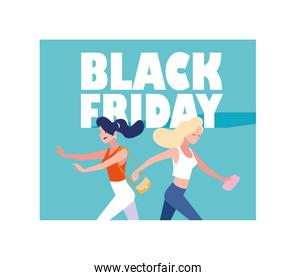 Black friday shopping vector design