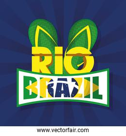 brazil carnival poster with sandals
