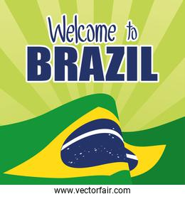 brazil carnival poster with flag