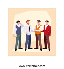 set of businessmen with various views, poses and gestures