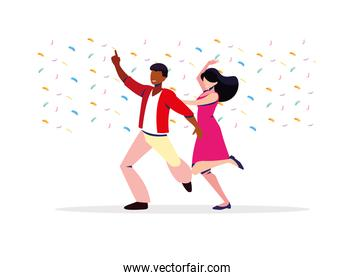 couple of people in dance pose, party, dance club
