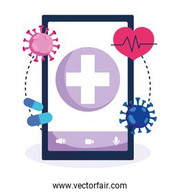 online health, smartphone application support diagnostic covid 19 pandemic