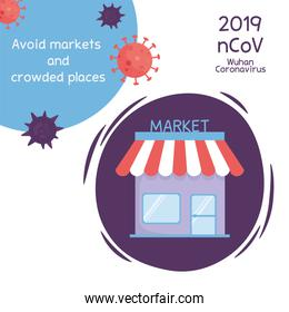 virus covid 19 prevention avoid markets and crowded places