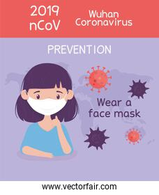 virus covid 19 prevention wear a face mask protection