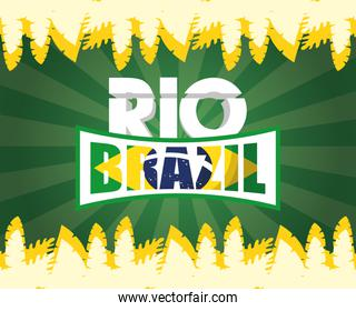 brazil carnival poster with rio lettering