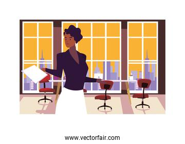 businesswoman in the work office