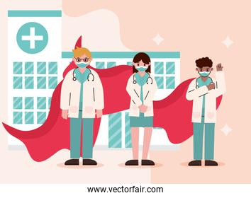 doctor hero, physicians staff with cape care hospital