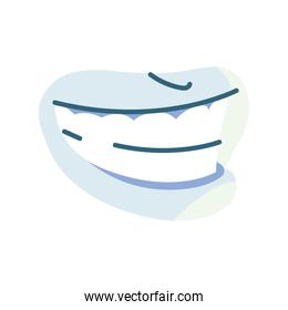 human mouth, body part on white background
