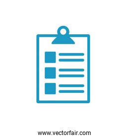 medical check list with document line style icon