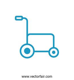 wheelchair medical equipment line style icon