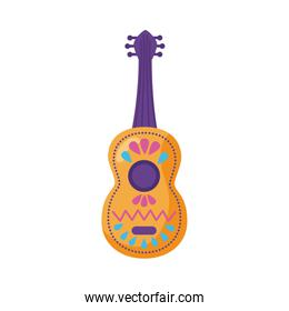traditional mexican guitar detaild style icon