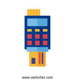 credit card with voucher payment online flat style