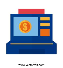 ragister machine with coin payment online flat style