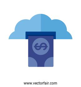 cloud computing with bill dollar Payment online flat style