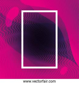 waves background with frame, geometric figures