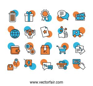 bundle of online commerce icons