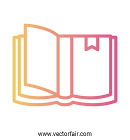 text book linear gradient style icon