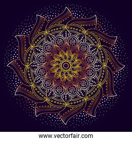 beautiful mandala with purple color background