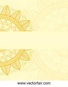 beautiful mandala with yellow color background