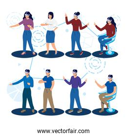 people using augmented reality technology