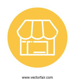 shopping store block and flat style icon