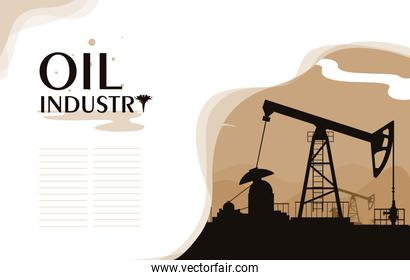 oil industry scene with derrick