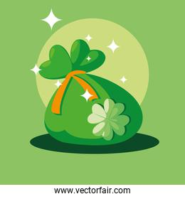 st patrick day with bag money