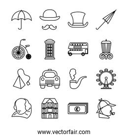 bundle of london country set icons