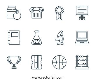 Isolated school icon set vector design