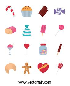 Isolated sweet food icon set vector design