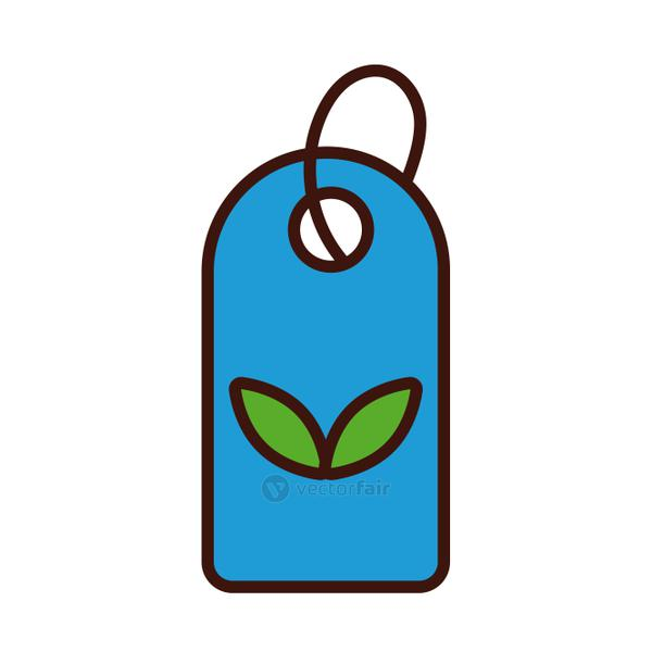 leafs plant in commercial tag line and fill style icon