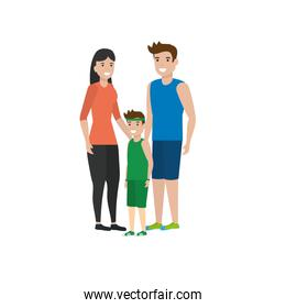 Isolated family members vector design