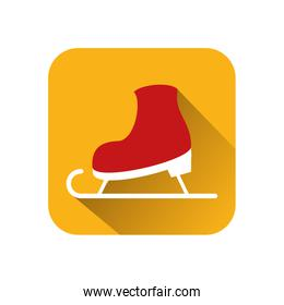 snow skate sport isolated icon