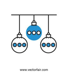 merry christmas balls hanging decoration
