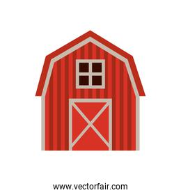farm stable building isolated icon